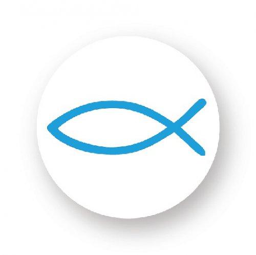 Placka s rybkou - modrá