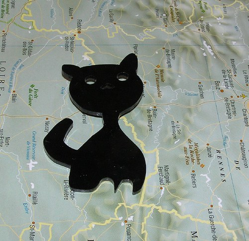 Kočička černá  - brož