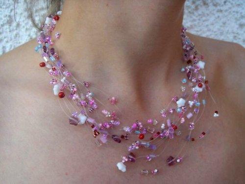 Hortenzie - náhrdelník