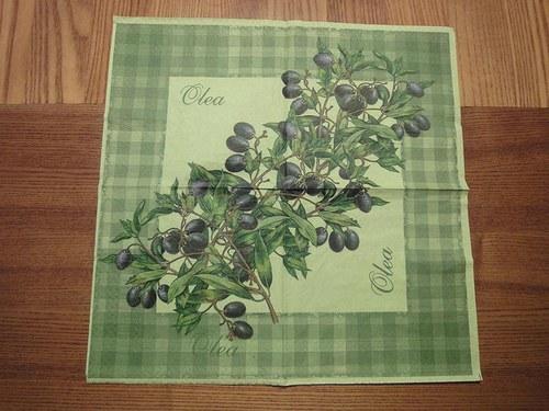 Ubrousek na decoupage - olivy