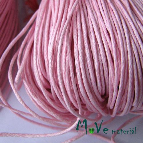 Šňůra voskovaná bavlněná Ø1mm, 3m, růžová