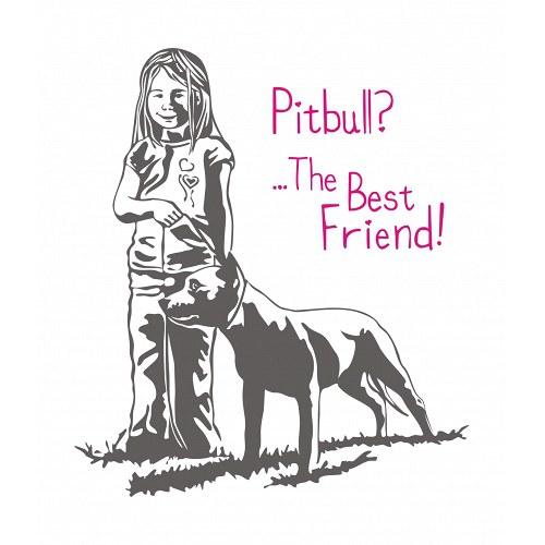 Holčička s Pitbullem