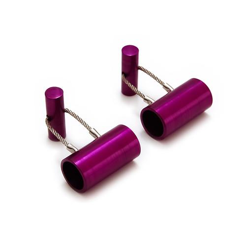 hliníkové manžetové knoflíčky - fialové