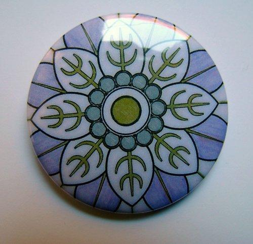 MANDALA 10 - placka - button - 44 mm