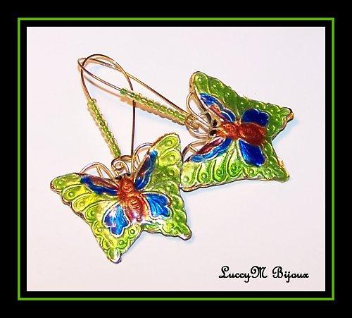 Motýlci Cloisonne