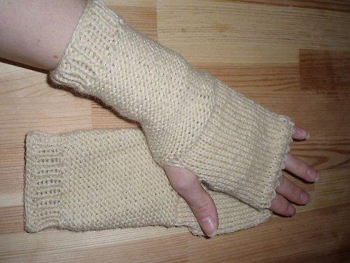 Ručně pletené návleky na ruce