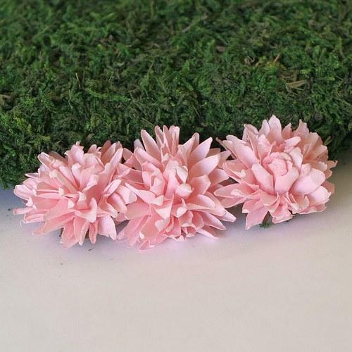Papírová chryzantéma růžová