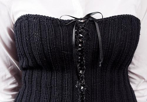 Popis - návod na pletený korzet Sexy