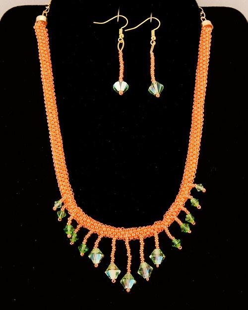 Spr náhrdelník a náušnice Swarovski