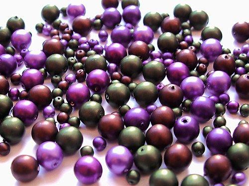 Voskové perle - směs půlnoční fialka