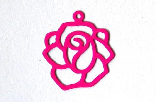 Růže růžová18x20mm