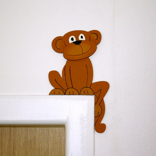 Opice - hlídač dveří, pravý