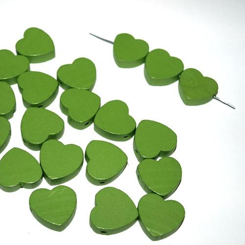 Dřevěné korálky srdce 18 x 16 x 6 mm (cena 25ks)