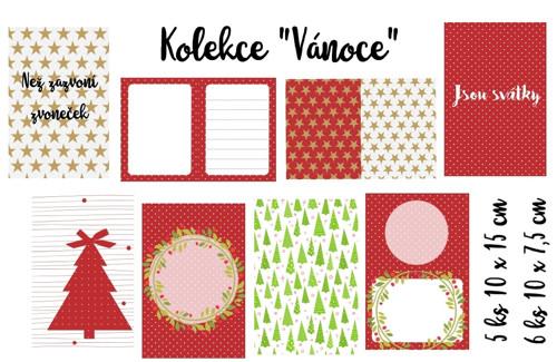 Project life kartičky - Vánoce - 11 ks