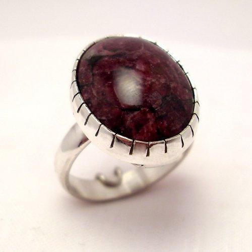 Prsten eudialit, Ag 925