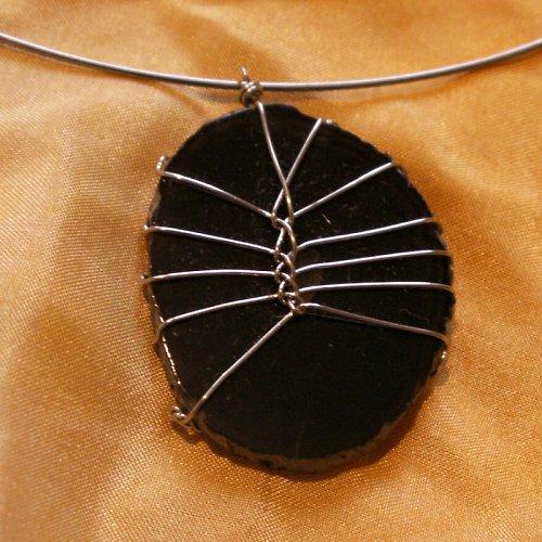 drátovaný šperk - achát