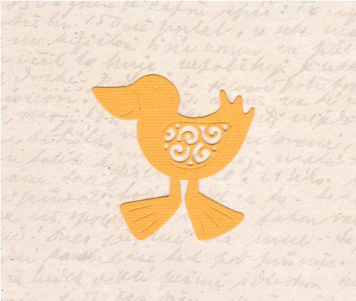 Kuřátko - tmavě žluté (2 ks)