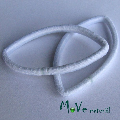 Sada gumiček na úpravu bílá 2ks
