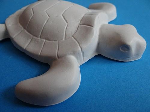 Sádrová dekorace želva, želvička
