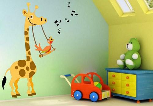 Farebná nálepka 255f Žirafa