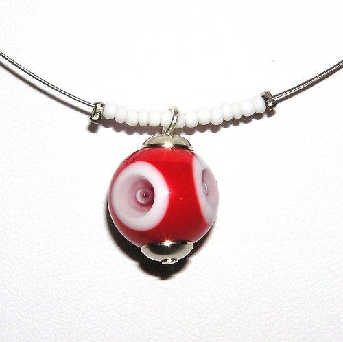 Náhrdelník - utopené oko - vinutá perle