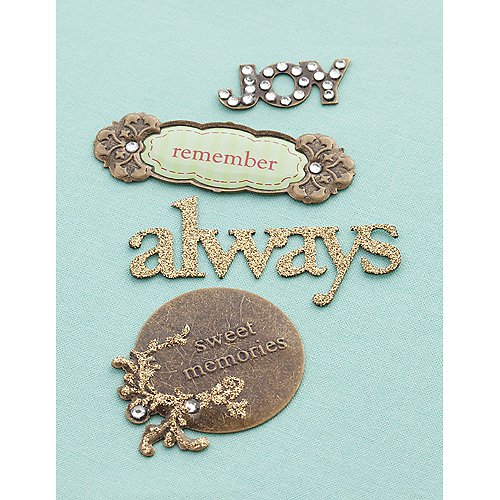 Eclectic Metal Signs - Memories  - scrapbook