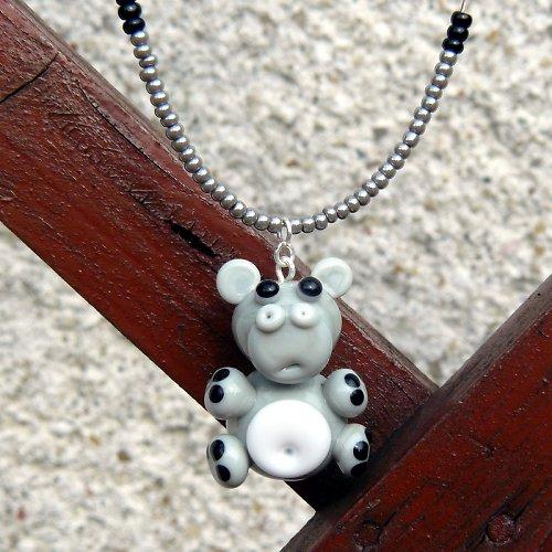 Náhrdelník hroch - vinutá perle