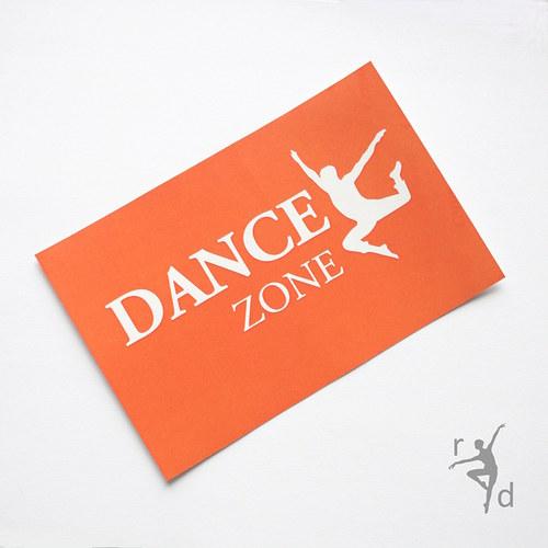 Samolepka DANCE ZONE