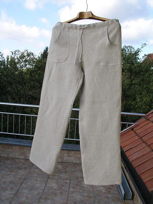 Lněné kalhoty ze 100% lnu vel.S - M