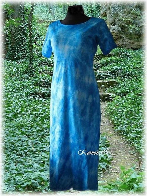 Dámské šaty tyrkysové do vel.7XL
