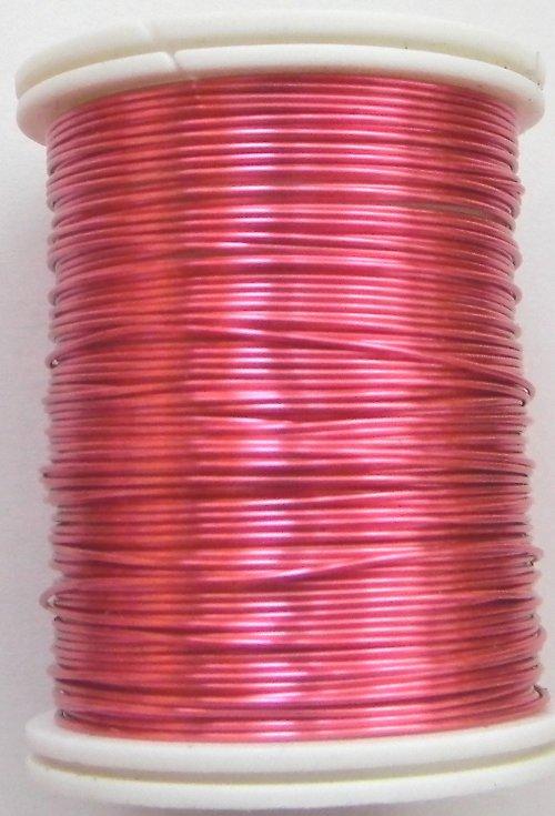 Měděný lakovaný drát 0,3 mm růžový