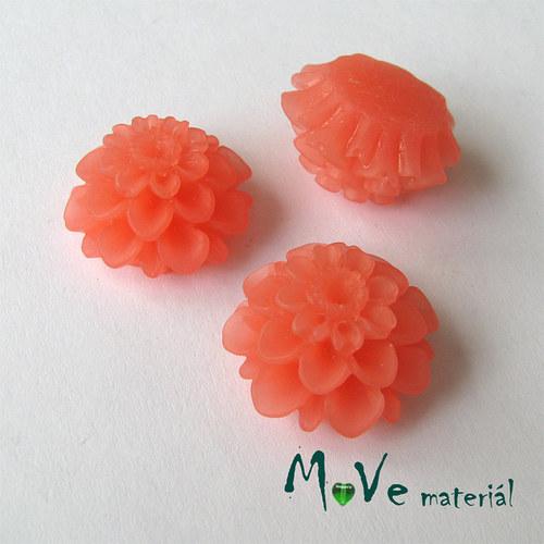 Kabošon květ transparent A5- resin -2ks, broskvový
