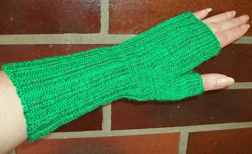 Pletené návleky na ruce - zelené