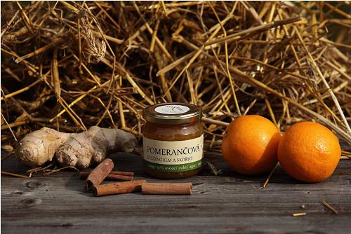 Pomerančová marmeláda se zázvorem a skořicí, 220g