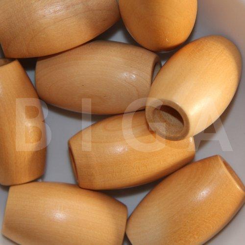 dřevěné korálky 27x44mm