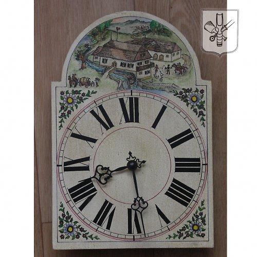 Ručně malované hodiny - mlýn - větší