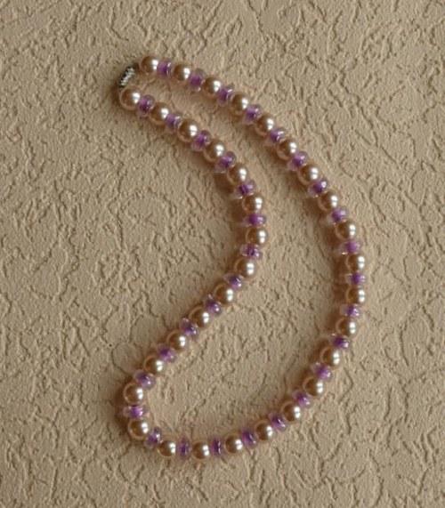 perlový náhrdelník - růžový