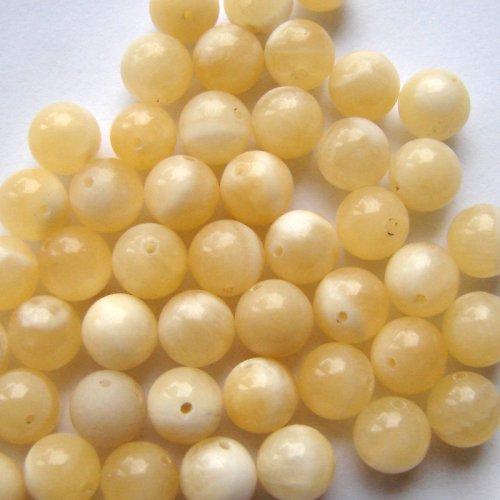 Jadeit medový, 8 mm (2 ks)