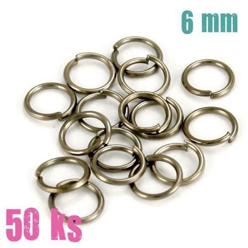 Leskle černé kroužky 6 mm (50 ks)