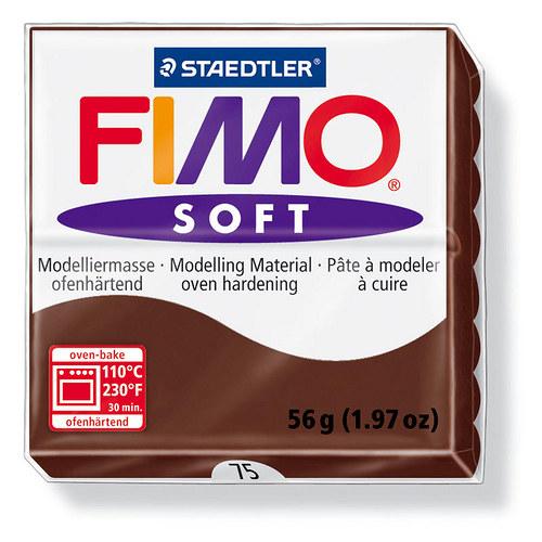 Fimo soft čokoládově hnědá 75
