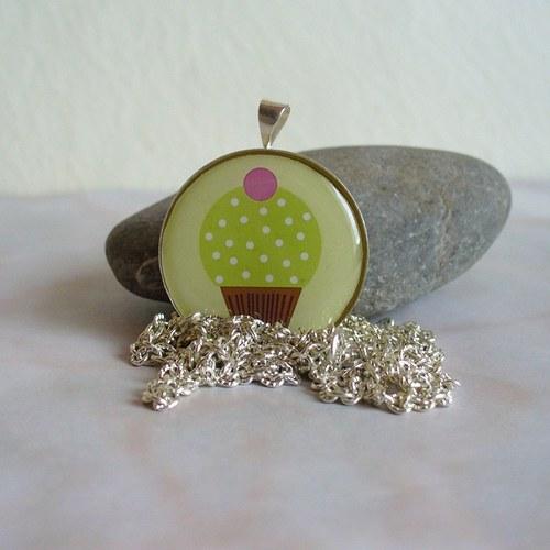 Pistáciový muffinek - medailonek