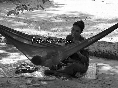Fotografie Kambodža - Matka a dítě
