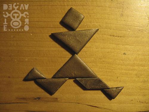 Kapesní tangram (bronzově hnědý)