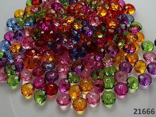 21666 Velké broušené rondelky MIX, bal. 15ks
