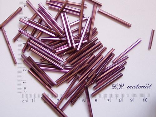Skleněné tyčky fialové 10 ks
