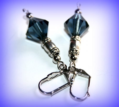 Blue crystal montana náušnice