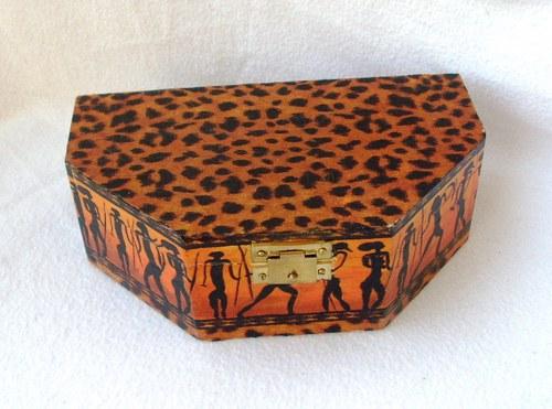 krabička šestiboká na poklady