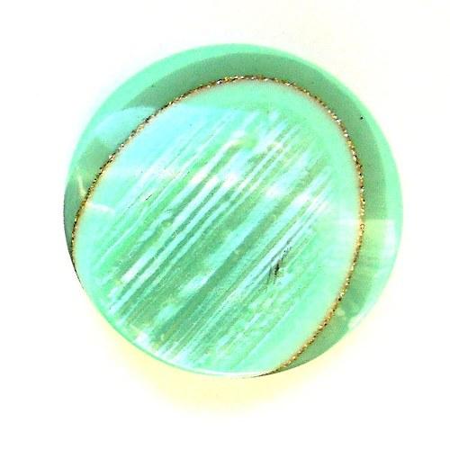 Knoflík Zelenkavý s perletí 22 mm