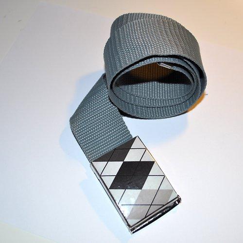 Dámský opasek black - white V