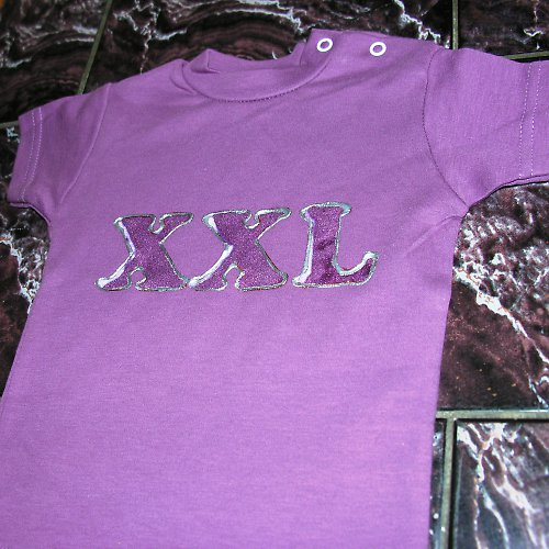 MIMI tričko XXL - tmavě fialové